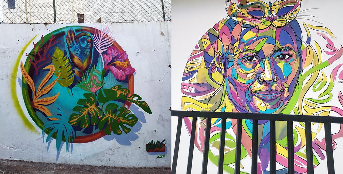 Peinture décorative street art ville France et Sri Lanka par Enkage