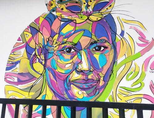Peinture street de voyage en Asie au Sri Lanka