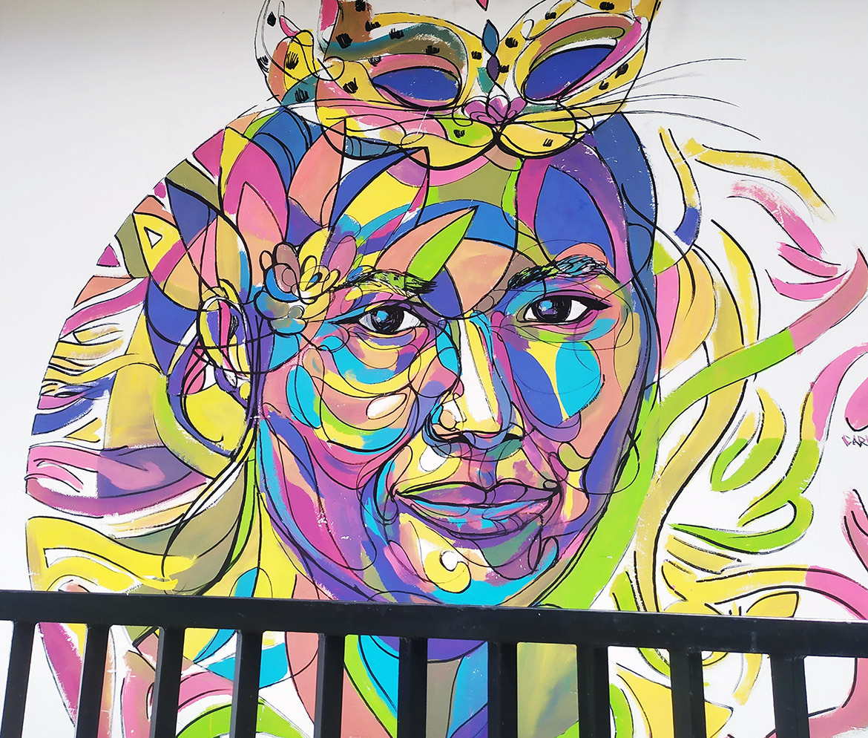 Peinture street art de voyage en Asie au Sri Lanka