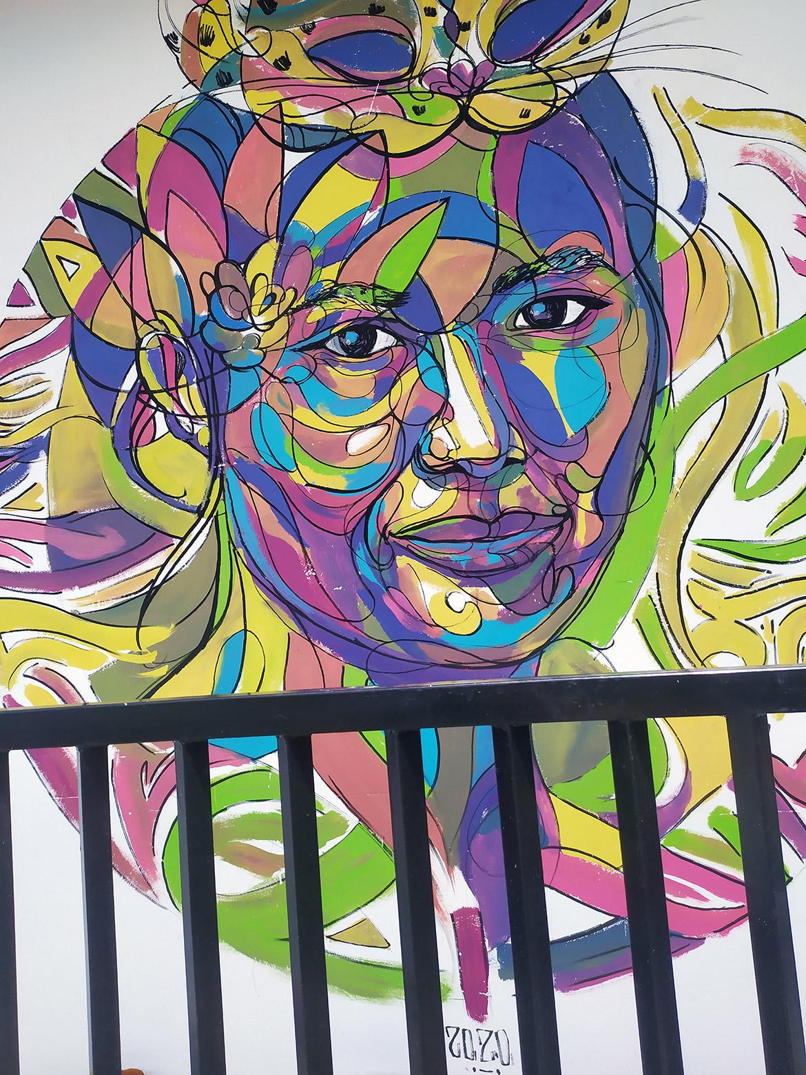 Street art visages de femmes par le street artiste Enkage