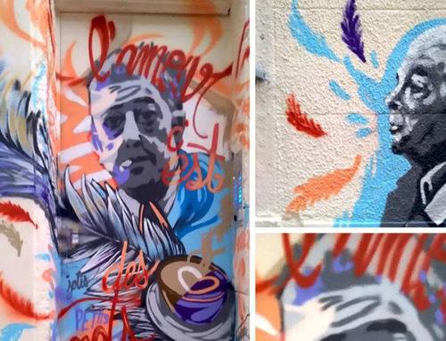 Street artiste Marseille fresque Prévert