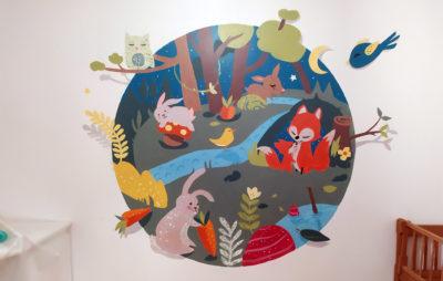 Idée peinture chambre d'enfant - Animaux et nature