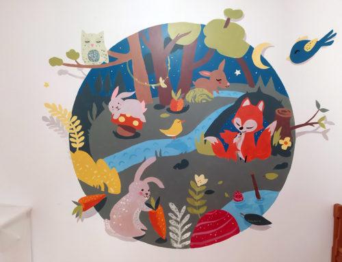 Idée peinture chambre d'enfant – Animaux et nature par un artiste peintre