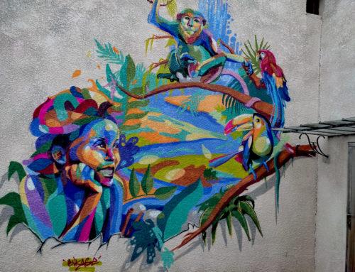 Fresque street art France en extérieur – Peinture près d'Aix en Provence