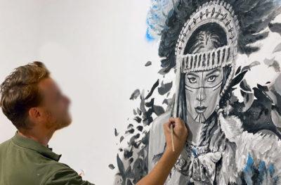 Décoration peinture artiste intérieur - Le Brésil en noir et blanc Marciele Albuquerque par Enkage