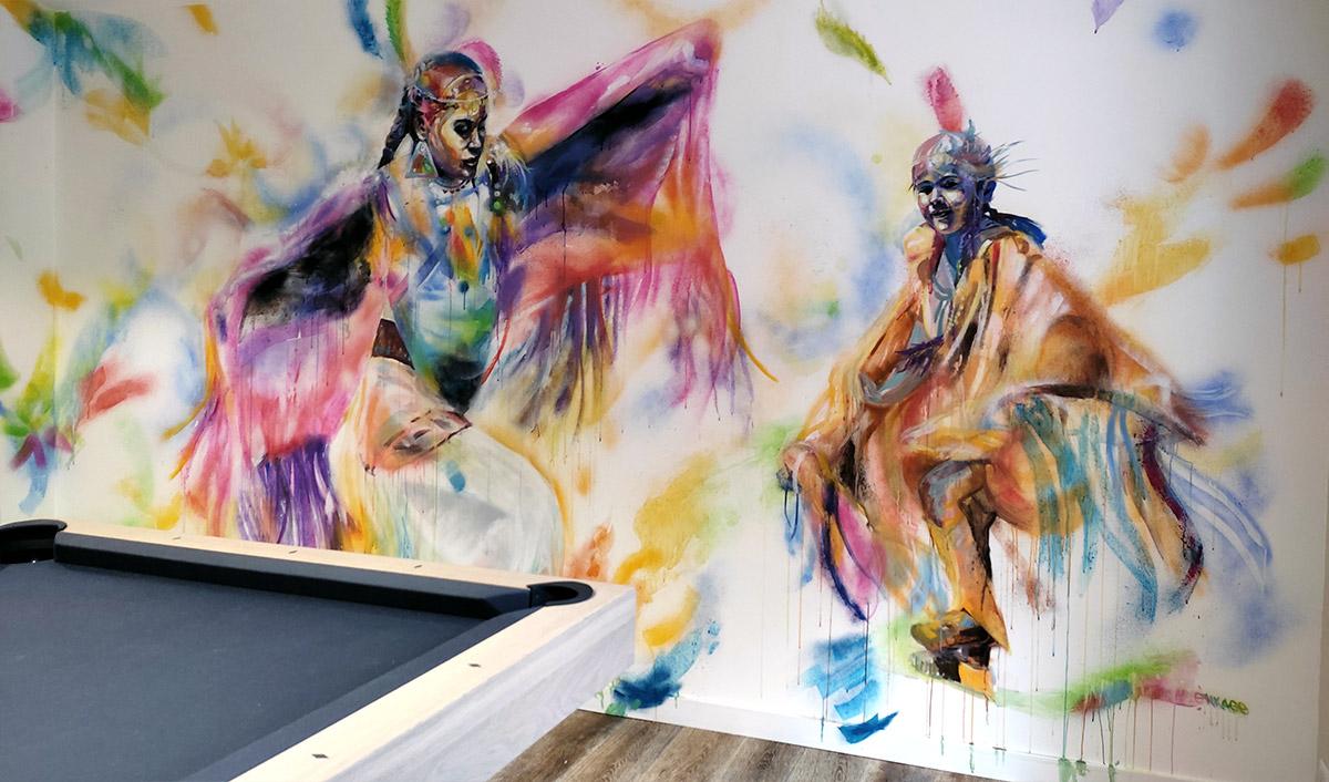 Peinture artiste mur intérieur, graffiti et street art par Enkage artiste